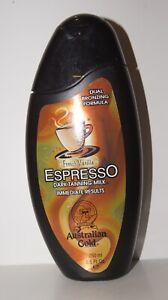 NEW Australian Gold French Vanilla Espresso Dark Tanning Milk Dual Bronzer