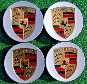 Factory Porsche Macan Wheel Center Caps OEM Genuine Color Logo Crest Set of 4