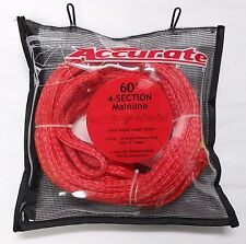 "ACCURATE LINES 60 Foot 4-Section Mainline - 5/16"" Heavy Duty Wakeboard Rope NWT"