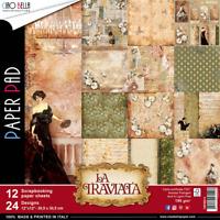 CIAO BELLA 12X12 PAPER COLLECTION- LA TRAVIATA (12 SHEETS)