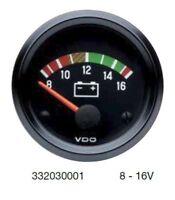 Cockpit International VDO Voltmeter, 12 volt, 52mm 2 inch