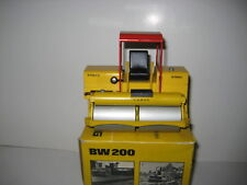 Bomag BW 200 rodillo techo rojo Conrad #2950.3 1:24 OVP