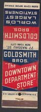 Goldsmith Bros.  Old Matchbox cover