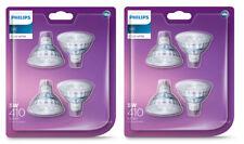 8 x Philips LED Downlight Globes  Bulbs 5W 12V MR16 GU5.3 Cool White 4000K
