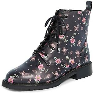 NEW REBECCA MINKOFF Gerry Floral Combat Boots (Size 7,5 M)