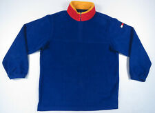 Vintage 90s Tommy Hilfiger Blue Yellow Red Flag 1/4 Zip...