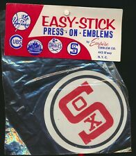 1960s Vintage Empire Emblem Easy-Stick Press On Vintage Patch White Sox