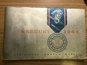 Original 1964 Mercury Operating Instructions/Glove Box Manual