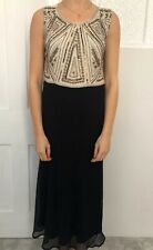 Joanna Hope Women Dress Size 16 Black Sequin Embellished Maxi Full Length