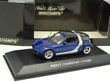 Minichamps 1/43 - Smart Roadster Coupé Bleue