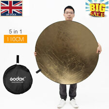 """Big Sale! Godox 5in1 110cm 43"""" Light Diffuser Round Reflector Disc+Carrying Bag"""