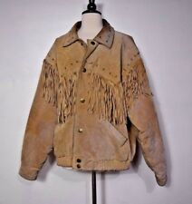 Wilsons Leather Jacket Coat Fringe Western Style Camel Men's Size XL  💓