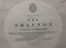 ADMIRALTY SEA CHART. The SHANNON, CARRIGAHOLT. No.1819. Ireland. 1848
