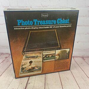 "Vintage Sears NIB PHOTO TREASURE CHEST 3"" x 5"" Prints Album 200 Flip Pictures"