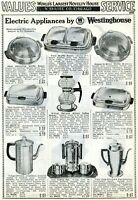 1940 Print Ad of Westinghouse Electric Appliances Coffee Percolator Waffle Baker