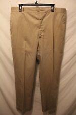 VTG Higgins MEN'S SIZE 38x31 Beige Khaki PANTS Cotton Blend Flat Front Chino