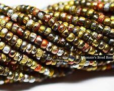 8/0 (3.1mm) California Mix Etched Seed Beads