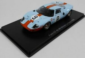 MAG MB04 FORD GT40 diecast model car Winner Le Mans 1968 Gulf livery no.9 1:43rd
