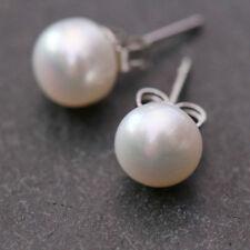 Pearl Stud White Fine Earrings