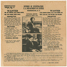 Bonnie & Clyde Wanted Poster > United States Marshalls Flyer/Poster Prop Replica