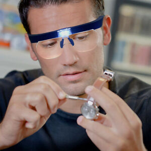 Magnifying Glasses magnifier 1.5X 2.5X 3.5X 5.0X USB Rechargeable With LED Light