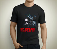 New SAW Head Torture Horror Movie Men's Black T-Shirt Size S to 5XL