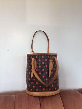 Auth Louis Vuitton Monogram Murakami Cerises Cherry Bucket PM without Pouch