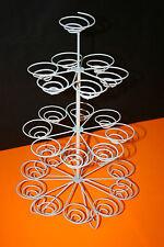 Présentoir à Gâteaux Cupcakes 4 niveaux Spirales pour 23 pièces Metal Laqué Neuf