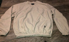Footjoy Golf V-Neck Long Sl Pullover Beige Size Large Polyester Foo Joy Sz Large