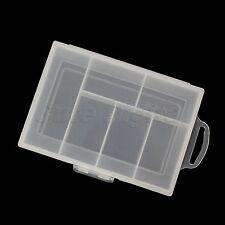 Portable Plastic 6 Compartment Storage Container Case Box Clear Transparent