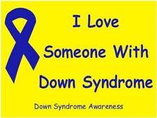 Down Syndrome Window / Bumper Sticker - I Love...