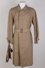 BURBERRY LUXUS Sommermantel/Trenchcoat Gr.48 / S mit Tasche 100% Baumwolle