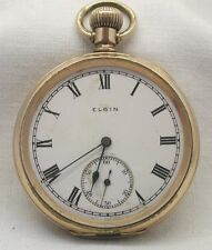 Vintage Gold Filled Elgin Open Face Pocket Watch