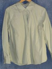 Chico's 3 Pale Spring Green XL Button Down Shirt Shimmer Stripes