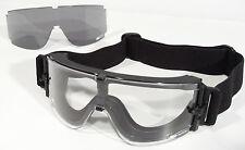 X800 Masque Balistique écrans incolore et fumé Bollé Tactical Armée Airsoft Buée