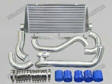 "For Toyota Supra MKIII 1JZ-GTE  3"" Inlet & Outlet Intercooler Kit + BOV"