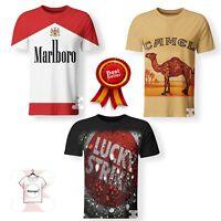 Marlboro Camel Lucky Strike Cigarette Pack Smoke T-Shirt 3D Print Unisex S-7XL