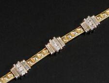 14K YELLOW & WHITE GOLD DIAMOND TENNIS LINK BRACELET - WITH APPRAISAL