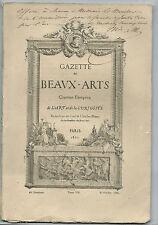Gazette des Beaux Arts Courrier Européen Art Curiosité Art Asiatique Ancien 1860