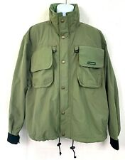 Hodgemans Mens Soft Shell Rain Coat Green Jacket Wind Hunting Outdoor Size M