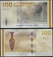DINAMARCA BILLETE 100 KRONER. 2009 LUJO. Cat# P.66a Sign2