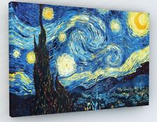 """VINCENT VAN GOGH STARRY NIGHT CANVAS PICTURE PRINT WALL ART """"BOX FRAME """"A38*"""