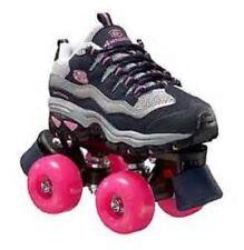 size 4 youth SKECHERS 4 WHEELER ROLLER SKATES skate quad derby girls childrens