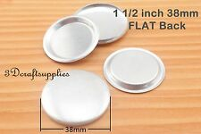 100 sets of cover button 1 1/2 inch (38mm) Size 60 Self cover buttons Flat back