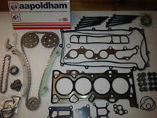 FORD MONDEO MK3 2.0 16V DURATEC NEW TIMING CHAIN KIT + HEAD GASKET SET & BOLTS