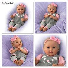 0302617001 AshtonDrake Itty Bitty Kitty Lifelike Baby Girl Doll by Ping Lau MINT