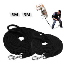 Black 3M/5M Dog Long Training Lead Shock Absorber Elastic Bungee Tracking Leash