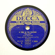 """Sam Browne """"un árbol en la Pradera/nunca me encantó cualquiera"""" Decca F-8830 [78 Rpm]"""