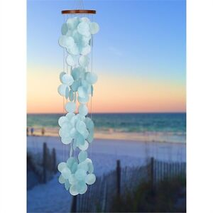 Woodstock Chimes - Capiz Waterfall - Azure - 40 in. Overall Length,   CWRA