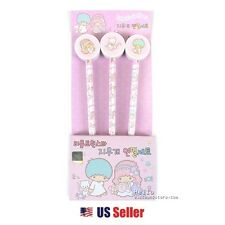 Sanrio Little Twin Stars School Stationary Pencil w/ Eraser : 3pcs Set